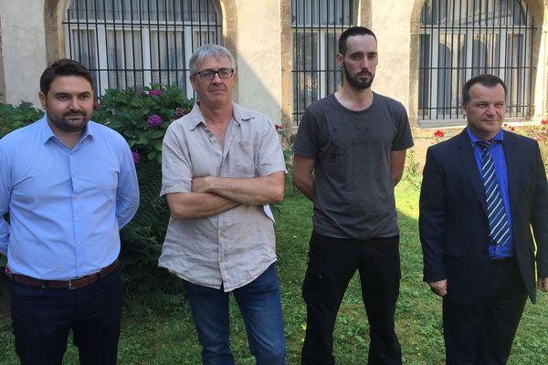 Marc Bozzarelli, Arnaud Hamilius et Gérard Frangi et le sous-préfet de Briey (54), Frédérique Carre.