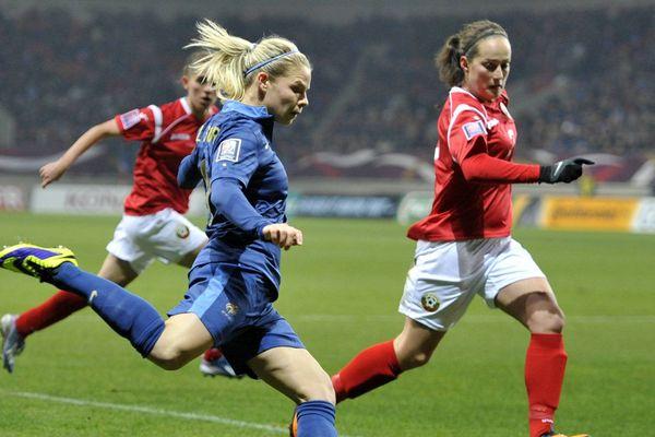 Eugenie LE SOMMER, France-Bulgarie, match qualificatif pour la Coupe du Monde de football féminin.