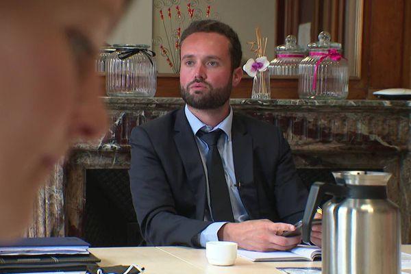 Valentin Belleval, 28 ans, est le nouveau maire d'Hazebrouck élu le soir du second tour des municipales.