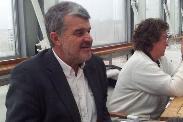 Jean-François Fountaine lors de la conférence de presse ce jeudi matin à La Rochelle