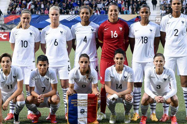 L'équipe de France féminine.