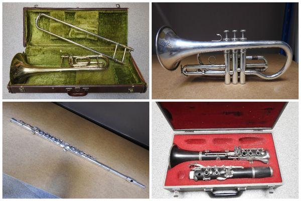 Certains des instruments mis en vente par la Communauté d'Agglomération du Boulonnais, en janvier.