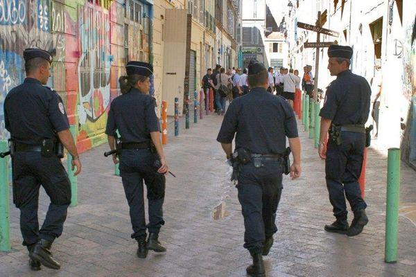 Illustration. Patrouille de police dans les rues de Marseille (Bouches-du-Rhône).