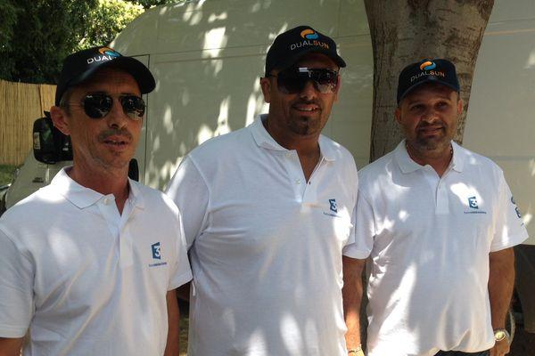L'équipe Henri Lacroix, Fabrice Bruno et Simon Cortés