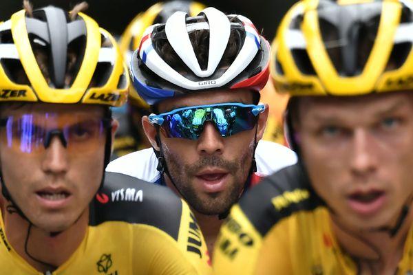 Thibaut Pinot, le leader de la Groupama-FDJ, lors de la première étape du Tour de France 2020