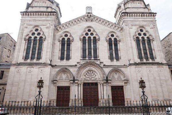 La synagogue de Bordeaux, en Aquitaine.
