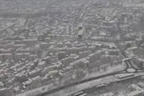 L'Île-de-France sous la neige.