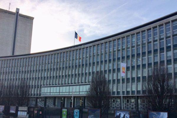 Rouen : l'hôtel du département, siège du conseil départemental  de Seine-Maritime (Archives)