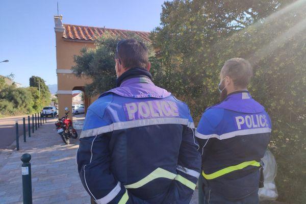 Sécurité renforcée ce matin aux abords de la chapelle des Grecs à Ajaccio.
