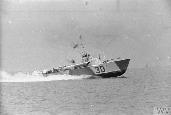 Une vedette-torpilleur britannique MTB vers 1940.