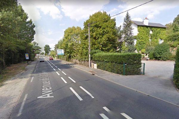 L'accident s'est produit avenue de la Gineste, à Rodez
