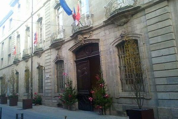 Carcassonne - la mairie - décembre 2013.