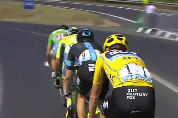 Le peloton de tête de la 11ème étape Carcassonne-Montpellier du Tour de France 2016