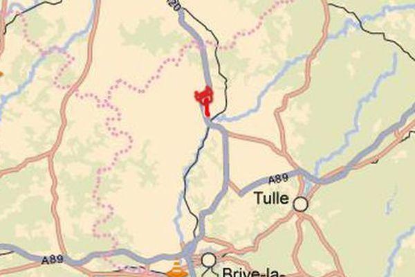 Accident sur l'A20 (localisation, 5-12-2013