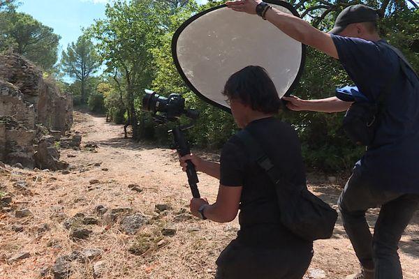 Une équipe de télévision japonaise a posé ses caméras à Vers-Pont-du-Gard pour y tourner un documentaire sur l'histoire romaine.