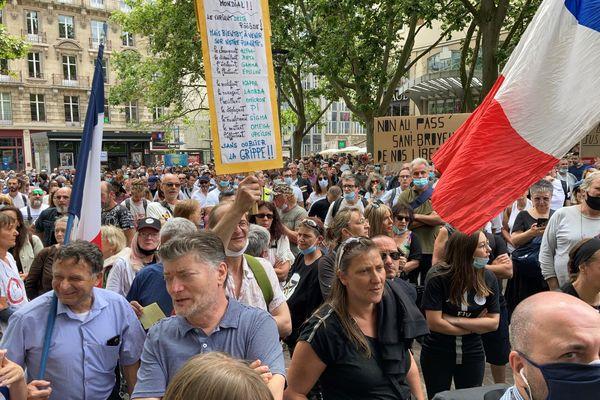 Manifestation anti-passe sanitaire. Samedi 11 septembre 2021