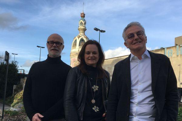 Bertrand Duchauffour, Mélanie Leroux et Marc-Antoine Corticchiato (de gauche à droite) lors de leur première visite à Nantes au mois de janvier 2020