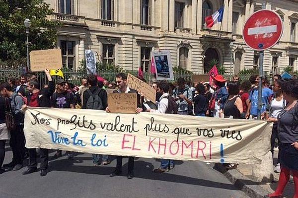 Montpellier - la fausse manif de droite organisée par Nuit debout - 2 juin 2016.