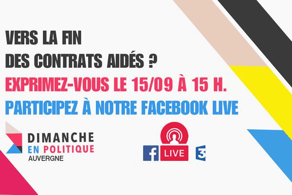 Posez vos questions lors du Facebook live, vendredi 15 septembre à 15H00, sur la page de France 3 Auvergne.