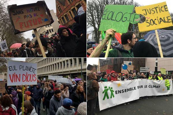 3000 personnes ont marché pour le climat ce 8 décembre à Lille.