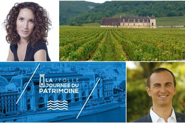 """Marie-Sophie Lacarrau et Arnaud Lefèvre seront en direct des vignes du Clos de Vougeot samedi 19 septembre à 15h20 pour """"la folle journée du patrimoine"""" sur France 3."""