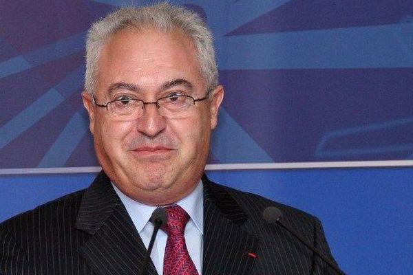 Guy Cotret, le président de l'AJ Auxerre, club bourguignon de Ligue 2
