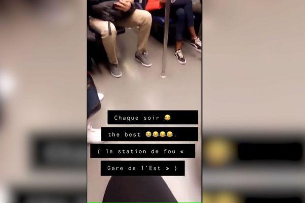 Une vidéo amateur tournée sur la ligne 7 du métro.