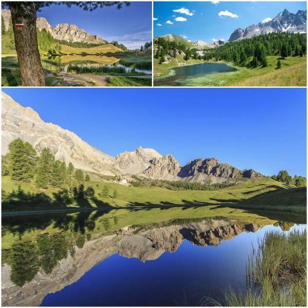 Lac miroir, proche de Ceillac dans le Queyras ( Hautes-Alpes)