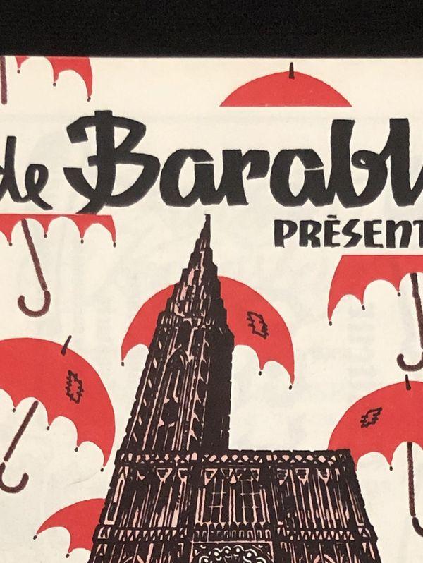 Affiche du spectacle du Barabli datant de 1986.