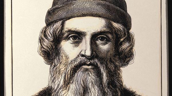 Jean Gutenberg, né à Mayence (Allemagne) en 1400,  Mort à Mayence le 03/02/1468
