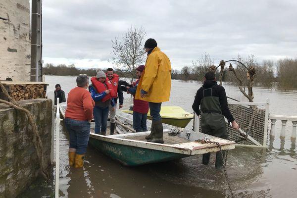 Inondations à répétition pour ses riverains de la Loire, février 2021