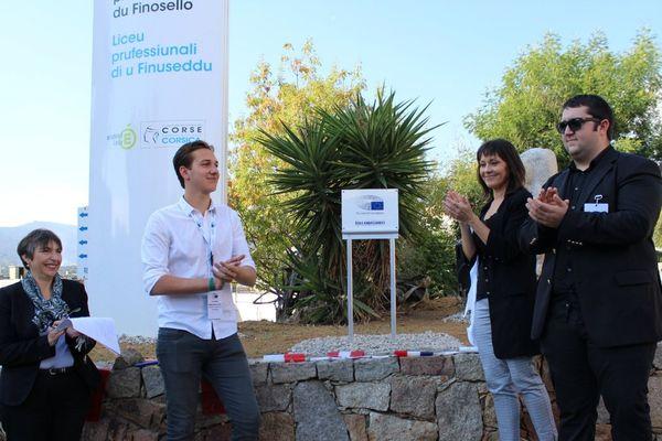 13/10/17 - Le lycée du Finosello à Ajaccio (Corse du Sud), ambassadeur du Parlement européen