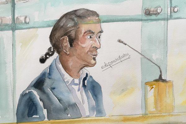 Younès Bounouara, devant les assises de l'Essonne.