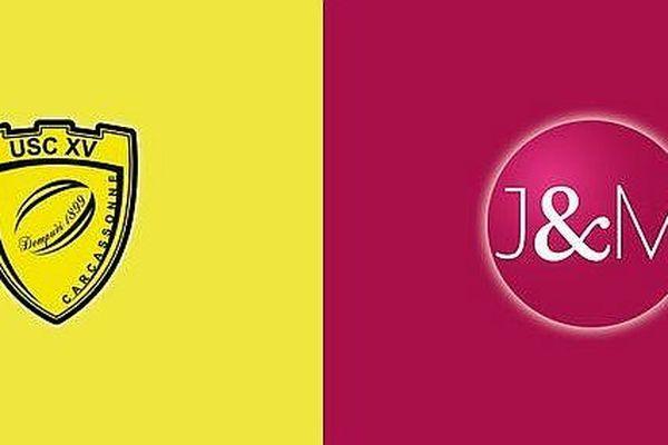 """Le logo """"J & M"""" ne pourra pas s'afficher à Carcassonne lors de la rencontre contre Biarritz."""