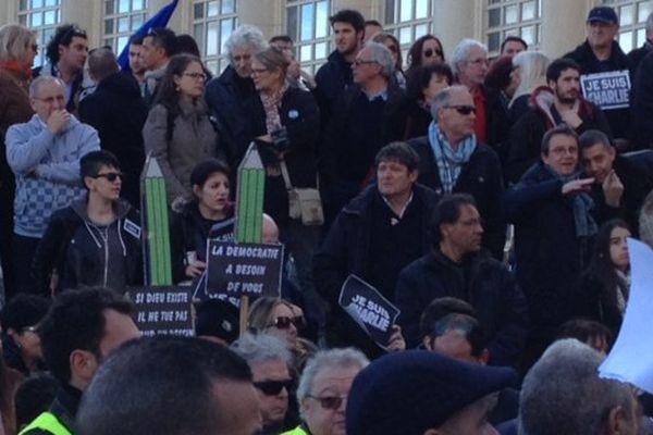 Montpellier - la foule - 11 janvier 2015.