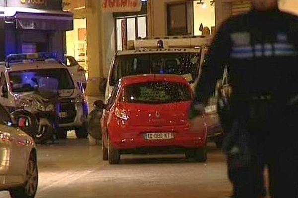Montpellier - les rues du centre ville bouclée par les forces de l'ordre - 9 janvier 2015.