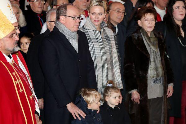 La famille princière lors de la fête de sainte Dévote, le 26 janvier, à Monaco