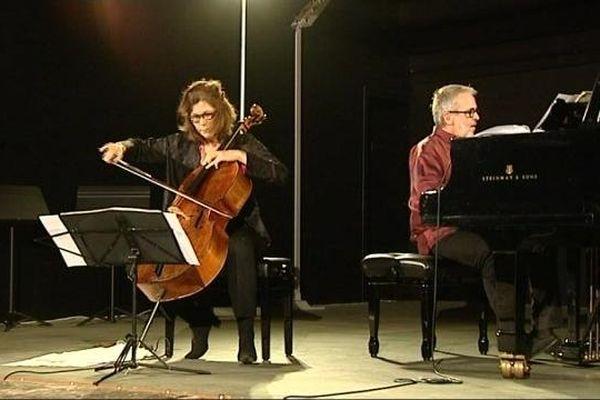 Bruno Fontaine et Sonia Wieder-Atherton, deux des artistes invités à cette 23ème édition des Fêtes musicales de Corbigny (Nièvre)