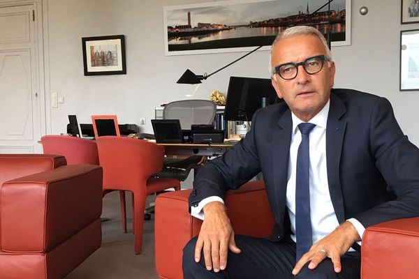 Pascal Martin le 25 septembre 2019 dans son bureau de la présidence du conseil départemental de Seine-Maritime