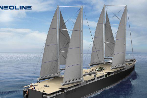 Le cargo à voile de Neoline permettra une économie de 80% à 90% de la consommation