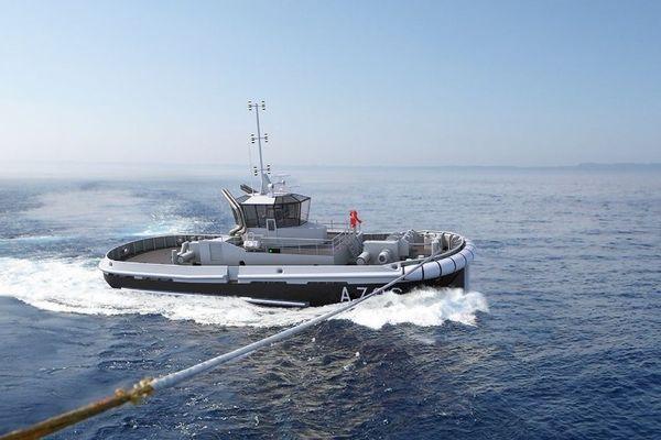 Remorqueur nouvelle génération dont vingt exemplaires ont été commandés aux chantiers Piriou de Concarneau (Finistère).