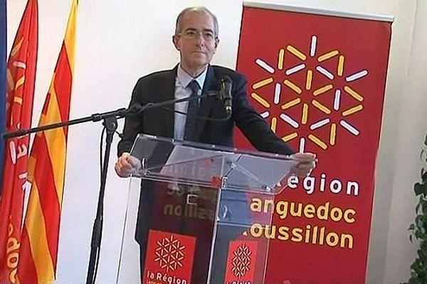 Perpignan - Christian Bourquin président (PS) de la région Languedoc-Roussillon - 24 janvier 2014