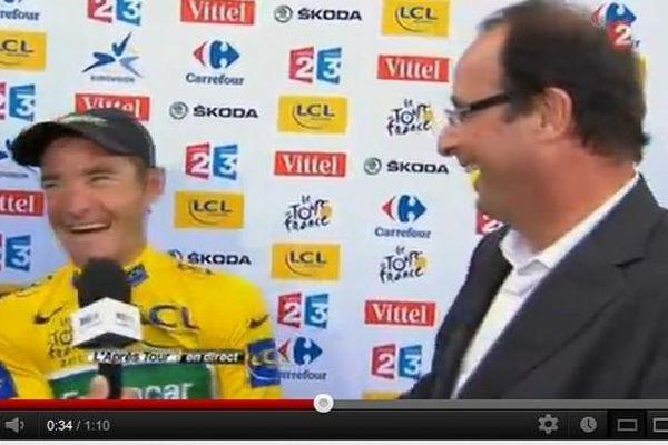Le 16 juillet 2011, François Hollande alors candidat à l'Elysée, avait rencontré Thomas Voekler sur une étape du Tour à Saint Gaudens.