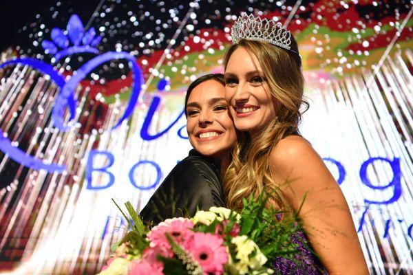 Marine et Lou-Anne Lorphelin, le 3 octobre 2020 lors de l'élection de Miss Bourgogne.