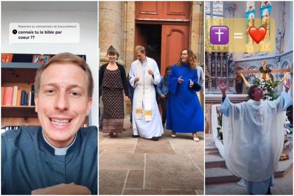 Sur TikTok, le prêtre Vincent Cardot partage des éléments de liturgie, répond aux questions... et danse, aussi.