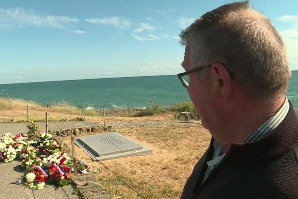 Hommage aux sauveteurs SNSM décédés en mer le 7 juin 2019 au large des Sables d'Olonne en Vendée.