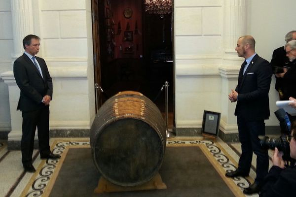 Le tierçon de Cognac au Château Bisquit ce matin.