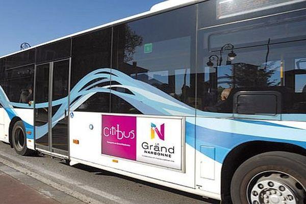 Narbonne (Aude) - un bus du réseau Kéolis Citibus - archives