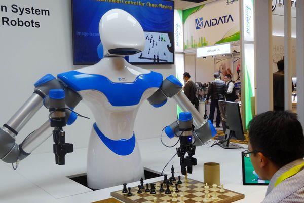 Présentation d'un robot au CES de Las Vegas, le 8 janvier 2017.
