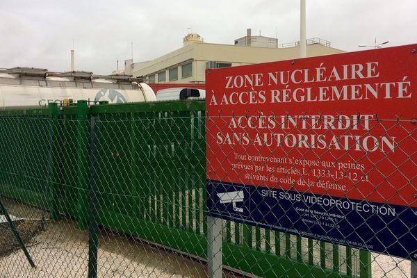 Narbonne (Aude) - entrée de l'usine Areva Malvési - 3 octobre 2017.
